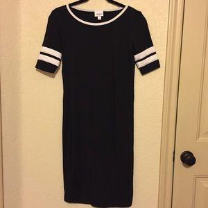 Varsity Style Black Dress